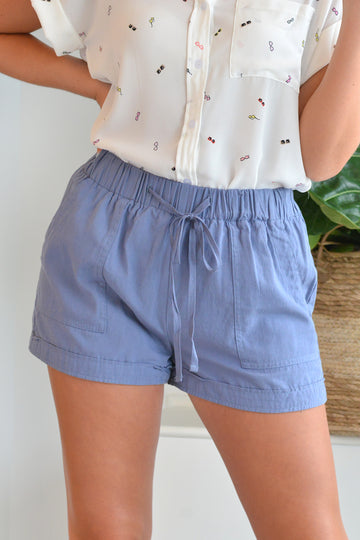 BEACH SHORTS - DUSTY BLUE