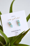 JAX KELLY MINERAL POINT STUDS - AMAZONITE
