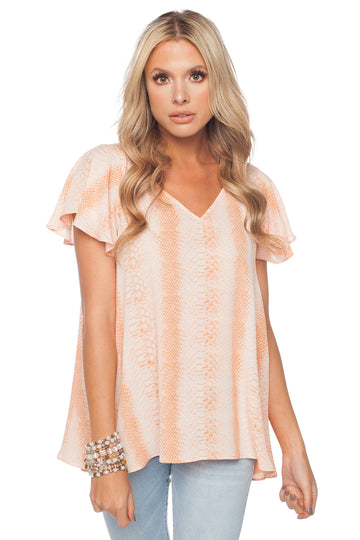 BUDDY LOVE AVRIL TOP -SALMON - Dear Stella Boutique