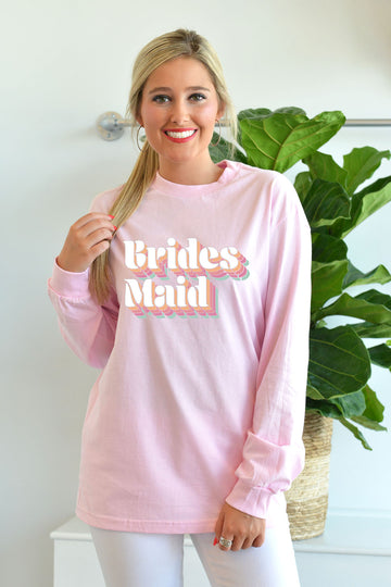 BRIDESMAID LONG SLEEVE GRAPHIC TEE