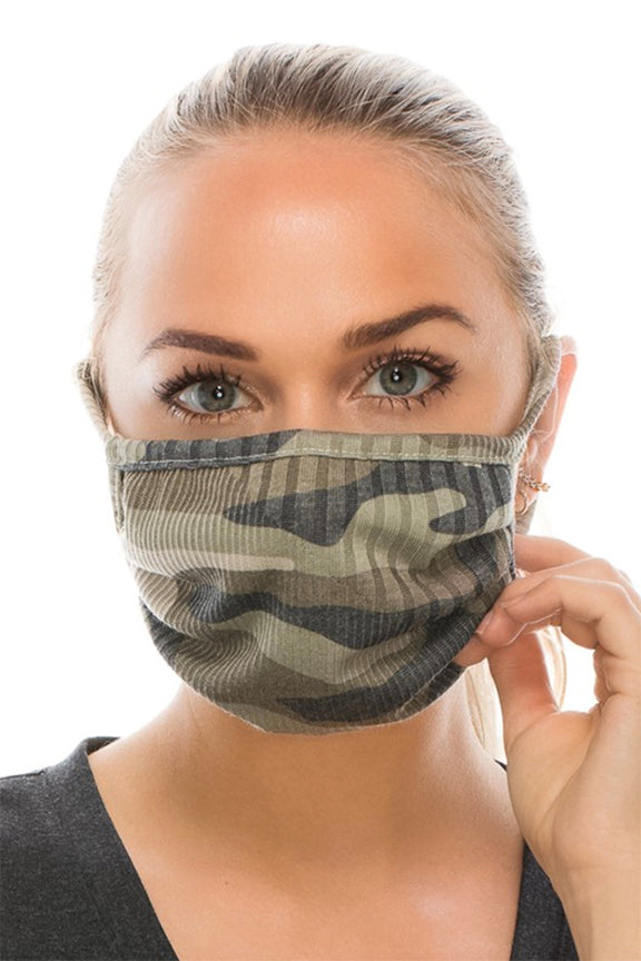 CAMO DOUBLE LAYER FACE MASK