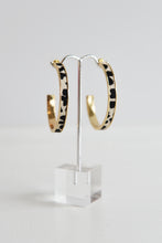 CALF HAIR GOLD HOOPS
