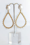 WHITE PEARL DANGLE EARRINGS - Dear Stella Boutique