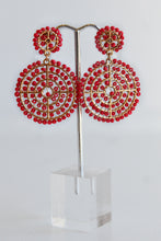 SEED BEAD EARRINGS -RED
