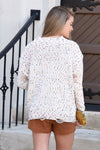 CAN'T LET GO CONFETTI SWEATER -CREAM