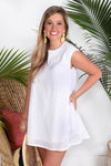 SWEET AS CAN BE DRESS- WHITE - Dear Stella Boutique
