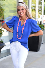 SHOW OUT TOP -BLUE