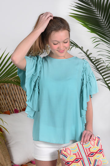 NEVER GETTING OLDER TOP -MINT - Dear Stella Boutique