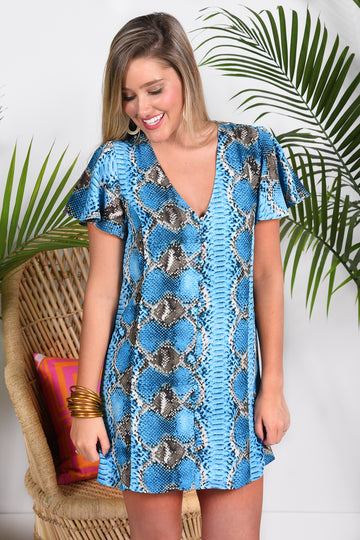 BUDDY LOVE HAILEY DRESS -OCEAN - Dear Stella Boutique