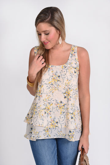 IN THE MOMENT TOP -FLORAL - Dear Stella Boutique