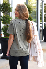 BE A STAR TOP -OLIVE