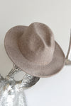 HEATHERED WOOL WIDE BRIM HAT