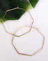 GOLD OCTAGONAL HOOP EARRINGS