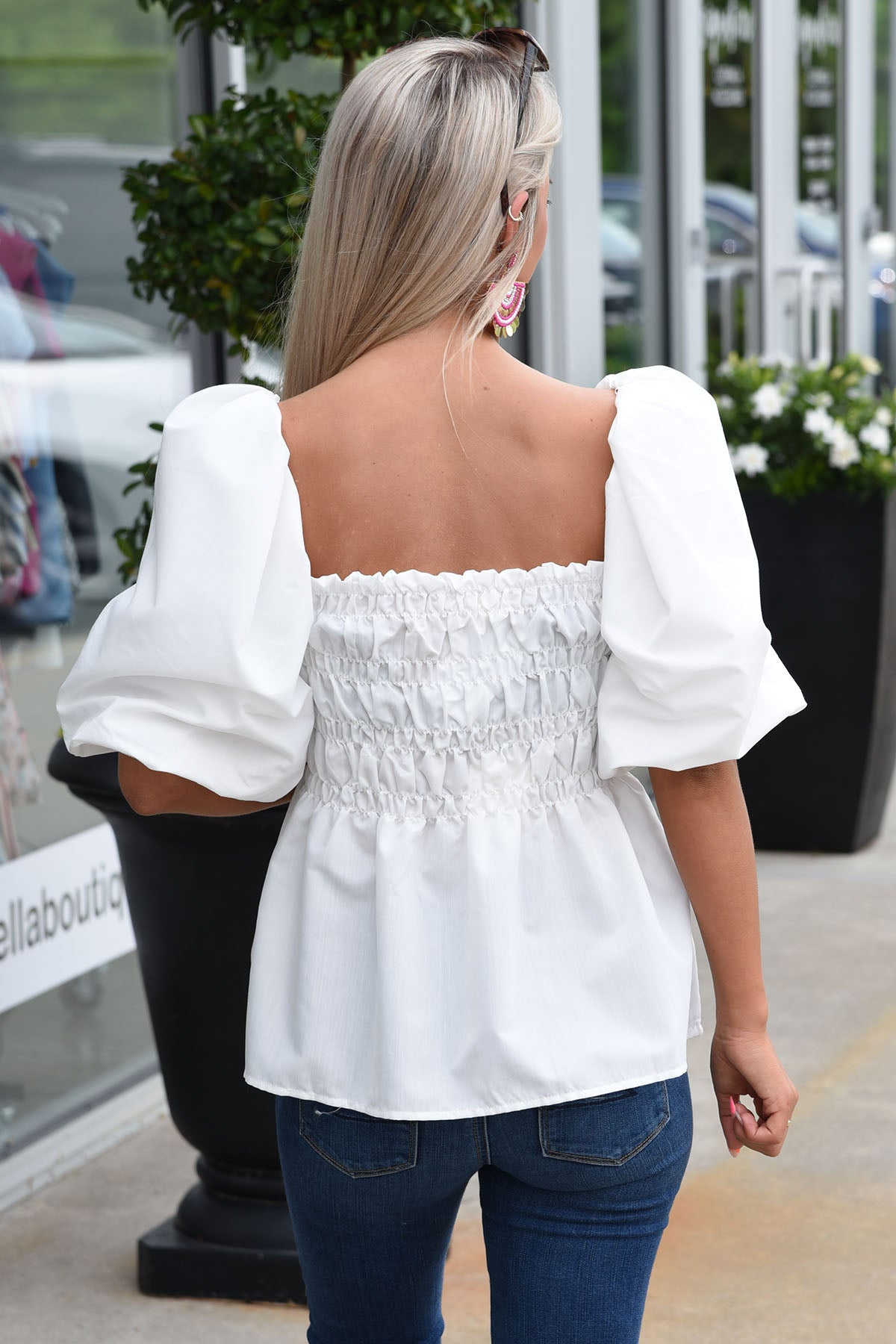 THE LIGHT OF DAY TOP -WHITE