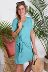 CAMERON DRESS- SEA GLASS - Dear Stella Boutique