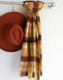 MUSTARD & BROWN PLAID SCARF