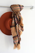 BROWN & BLACK PLAID SCARF