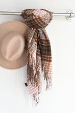 MAUVE & BROWN SCARF