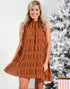 MAKING NO PROMISES DRESS -RUST