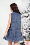MAKING NO PROMISES DRESS -BLUE - Dear Stella Boutique