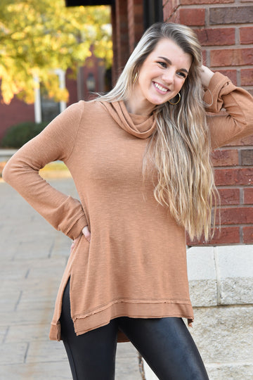 Z SUPPLY ALI COWL SLUB TOP