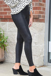 SPANX FAUX LEATHER LEGGINGS -Black - Dear Stella Boutique