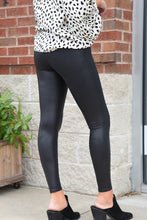 SPANX FAUX LEATHER LEGGINGS -Black