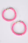 JELLY HOOPS -PINK - Dear Stella Boutique