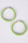 JELLY HOOPS -GREEN - Dear Stella Boutique