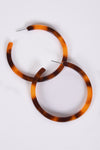 TORTOISE SHELL HOOPS - Dear Stella Boutique
