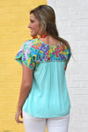CARMEN TOP -MINT - Dear Stella Boutique