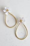 FLORAL TEARDROP EARRINGS - Dear Stella Boutique