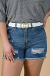 CIRCLE BELT -WHITE - Dear Stella Boutique