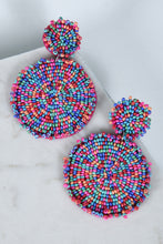 MULTI SEED BEAD EARRINGS