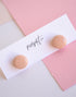 POPPY DOT DOTTIE STUDS - PEACH
