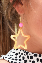 SHIRA MELODY STAR EARRINGS -PINK