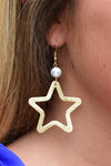 SHIRA MELODY STAR EARRINGS -WHITE - Dear Stella Boutique