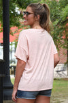 Z SUPPLY AIRY SLUB SLOUCHY TEE -PEACH - Dear Stella Boutique