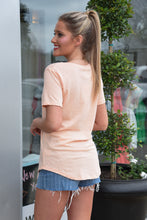 Z SUPPLY THE POCKET TEE - APRICOT