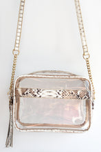 SNAKESKIN BOX PURSE -TAN