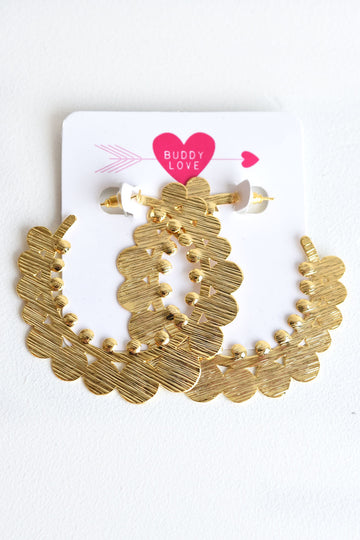 BUDDY LOVE GOLD HOOPS