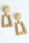 GOLD RECTANGLE EARRINGS - Dear Stella Boutique