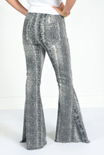 JUDITH MARCH PYTHON FLARE PANTS