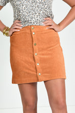 Z SUPPLY WIDE WALE CORDUROY SKIRT -WARM WOOD