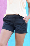 HAMPTON SHORT - BLACK - Dear Stella Boutique