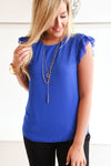 YOU GOT IT GIRL TOP -BLUE - Dear Stella Boutique