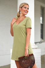 Z SUPPLY ORGANIC COTTON T-SHIRT DRESS - LIGHT SAGE