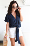 BUDDY LOVE RAH RAH TOP -NAVY - Dear Stella Boutique