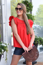 GLAM GIRL TOP - RED