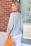 A LITTLE BIT OF LOVE SWEATER -GREY - Dear Stella Boutique